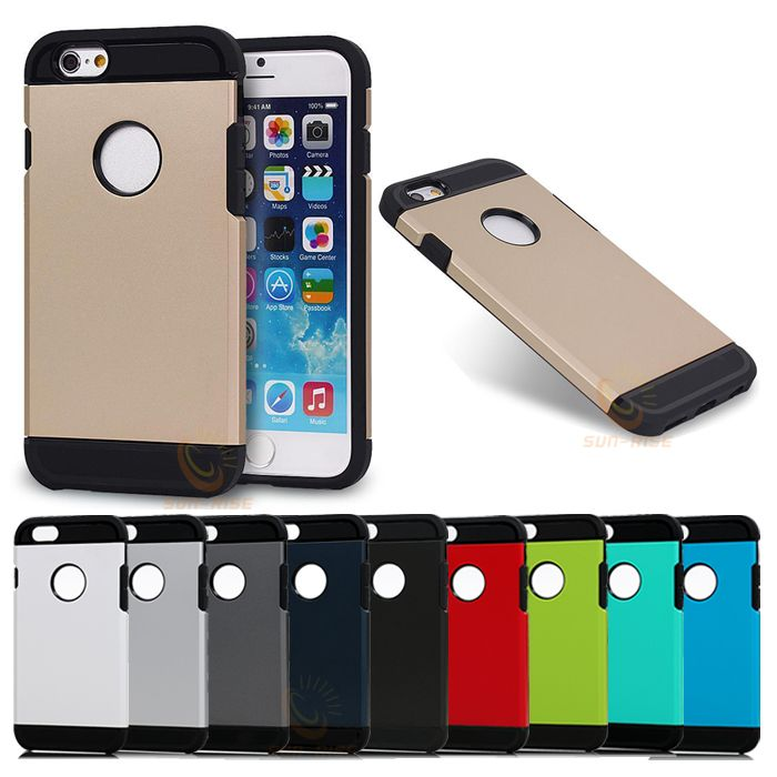 Double Color Slim Hard Armor Mobile Phone Cover For iPhone 6
