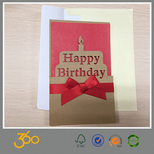 handmade birthday greeting card,paper cut greeting card for birthday