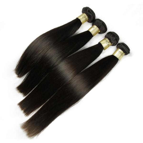 Livraison gratuite de vague droite double trame 100% brésilienne vierge cheveux