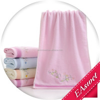 classical gift untwisted yarn 100%cotton face towel embroidery interrupt printing jacquar weave