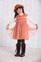 latest design for casual baby girl dresses factory direct selling