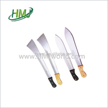 Practical and wood curved blade small banana machete knife