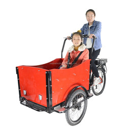 CE approved pedal assisted three wheel electric bike passenger for sale