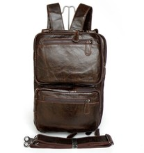 Good Quality Drop Shipping Top Grade Multifunctional Fashion Vintage Style Genuine Leather Hiking Backpack #7014Q-1