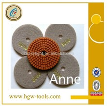 100mm wet use granite marlbe polishing pads