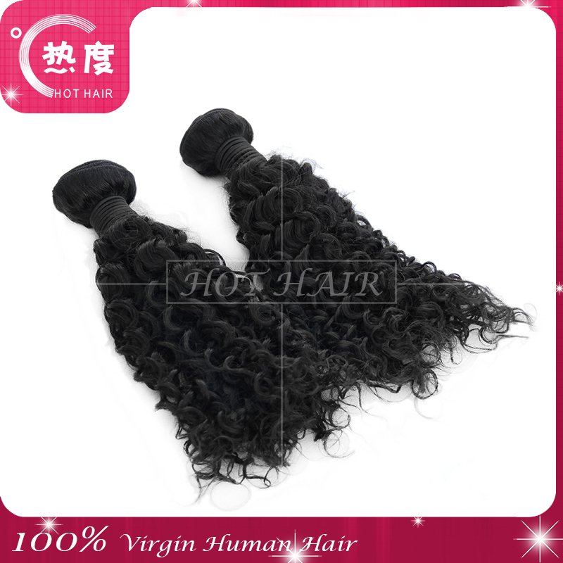 Wholesale Virgin Indian Jerry Curl Human Hair Weave 100% Natural ...