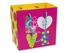 250g art paper made upscale tote style extra large gift bags with low price