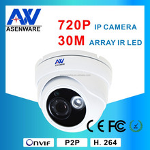 Network Security Camera Systems IR 30M 1MP Onvif 2.0 IP Camera Dome For Home, Shop Use