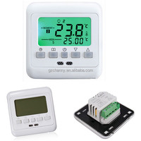 Hot sale 2015 New Digital Thermostat Room Temperature Controller Weekly Programmable Green LCD Display Warm Floor Heating