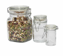 food storage containers/glass decorative jar with lid