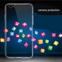 For iPhone 6 4.7in ultra thin transparent tpu mobile phones covers