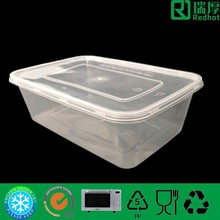 Disposable biodegradable food container eco-friendly recyclable disposable take out container 750ml