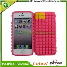 unique soft silicone cell phone case for apple phone
