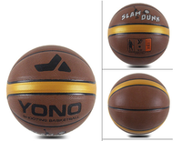 brand design leather laminate basketballs logo custom for match/training high quality