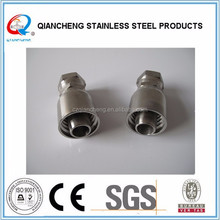 stainless steel one piece type JIC 74 cone hydraulic fitting