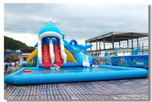 inflatable water slide / inflatable floating water slide / giant inflatable water slide for sale