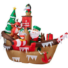 customized holiday outdoor decor christmas inflatable pirate ship