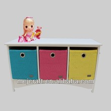 3 drawers chest wooden home furniture