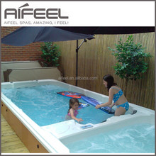 Acrylic balboa rectangular above ground outdoor hot tub combo swimming pool