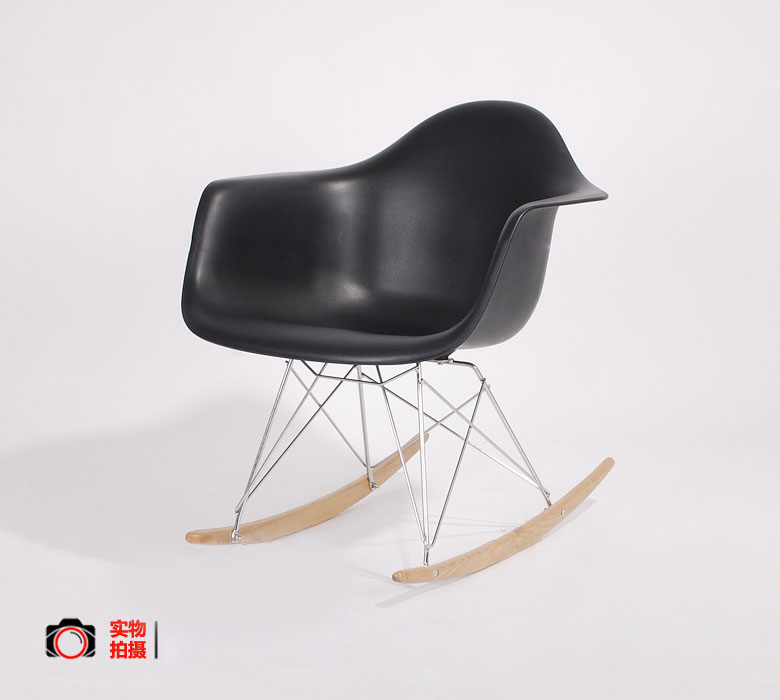 Most Comfortable Modern Rocking Chairs Pp Shell With Wood Base Leisure Chair Rocking Chair