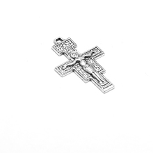 Antique silver crucifix 38.5mm Christianity Christianism