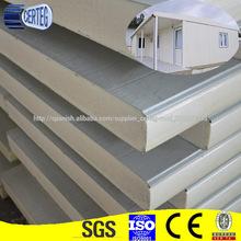 Paneles sándwich de casa prefabricadas de materiales de construcción PU