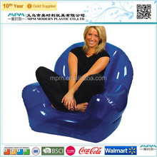 New arrival leisure blue inflatable sofa air filled inflatable sofa furniture