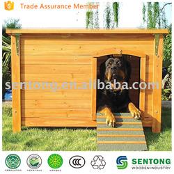 outdoor wooden dog kennel