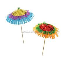 Cocktail paper umbrella toothpicks