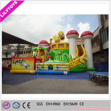 inflatable cartoon city playground, giant inflatable city, inflatable fun city