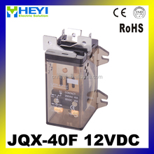 JQX-40F types of electrical relays general electric relay din rail mounted