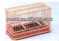 Unique wooden bamboo bird cage, make wooden bird cage for hot sale