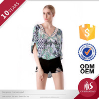 Factory Price Hot style fashions current blouses/women in tight blouses