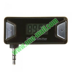 Wholesale Car FM Transmitter for iPhone 5 with Mini LCD Hands Free 3.5mm Audio