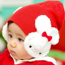 C83931A Korea baby thick winter hats,Christmas baby hats,knitted baby hats