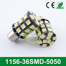 Hot sale car led light 1156-36smd car light led 12v 5050 auto led tuning