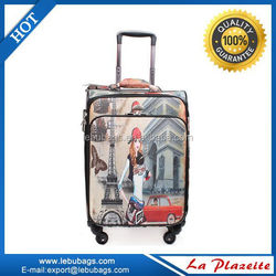 Carry on travel luggage bag water-resistant trolley luggage for laptop
