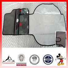 New Design Foldable Gray and Black Portable Baby Changing Pad