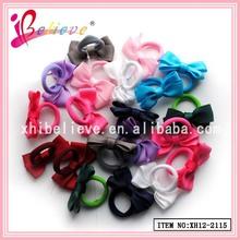 Grosgrain ribbon bow wholesale fashionable kids fabric elastic band,bow elastic hair bands
