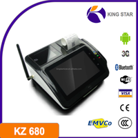 Android tablet pos with thermal printer POS/Barcode reader/Wireless Communication
