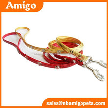 New products on china market Crocodile pattern pu top performance pet products wholesale dog leash collar