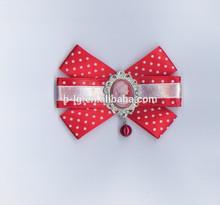 Buona strass nuovo design di moda all'ingrosso fiori di stoffa fatte a mano spille