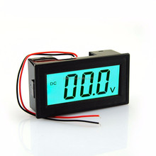 2 Wires Totally-enclosed 7-20V DC bule LCD Digital Voltage Panel Meter Voltmeter