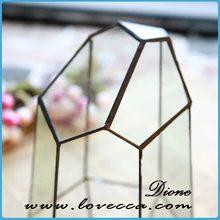glass candle & fish bowl geometric tiny terrarium