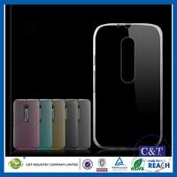 C&T Clear TPU Flexible Design Rubber Skin Cover Case for Motorola Moto X Play