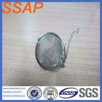 stainless steel wire mesh filter tea ball,ss tea infuser tea strainer