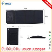 30W flexible thin film solar panel, monocrystalline solar cells folding solar kit for outdoor using