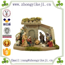2015 chinese factory custom made handmade carved hot new products fashion resin Religious Nativity Scene Craft