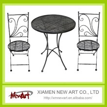 Cheap price metal table and metal chair set outdoor furniture garden outdoor furniture