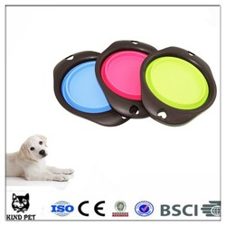 Folding Collapsible Travel Food & Water Bowl for Pets